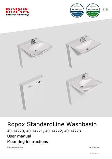 Ropox user & mounting manual - StandardLine Washbasin