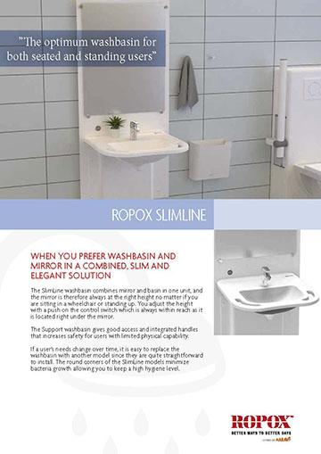 Data leaflet Ropox SlimLine Washbasin